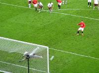 Ronaldo penalty. Shoots the same place!